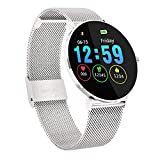 Qimaoo Montre Connectée L6 Smartwatch Homme Femmes Montre Cardio Fitness Tracker IP68 Smart Watch avec Podomètre, Distance, Calorie, Moniteur de Sommeil pour Android iOS iPhone Samsung Huawei