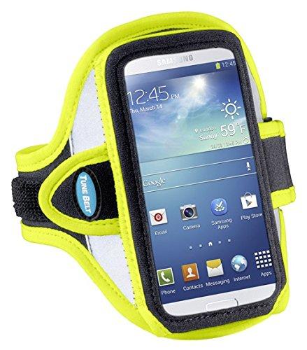 Sportarmband für Samsung Galaxy S4, Galaxy S3, HTC One (und weitere) - reflektierend, gelb (Otterbox 5 Nexus Case)