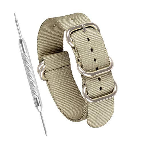 Sniper Bay - -Armbanduhr- Sniper Bay Heavy Duty NATO Watch Strap - Navy Solid Ring