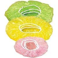 LINSINCH Cuisine Couvercles 8 Fois 3 de Tailles 24Pcs Couvertures Alimentaires avec élastiques Réutilise pour Fruits Ou…