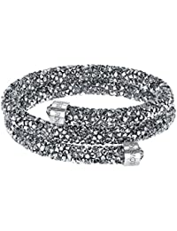 Swarovski Crystaldust Double Bangle, Gray