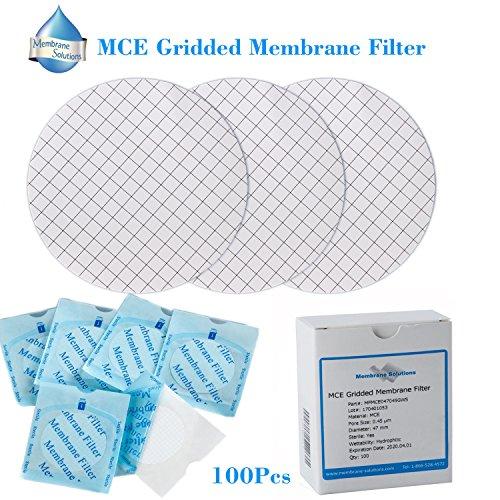Membran Lösungen Lab Supply MCE vergitterte Membran-Filter, Durchmesser: 47mm, Pore: 0,45Micron, 100Stück -
