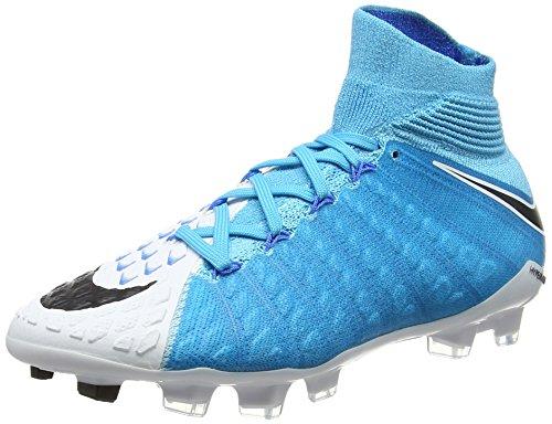 Nike Jr Hypervenom Phantom 3 DF FG, Zapatillas de Fútbol Unisex Niños, Multicolor (Bleuphoto/Blanc/bleuchlorine/Noir), 36.5 EU