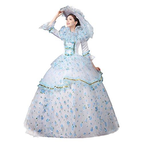 Cosplayitem Damen Mädchen Lagerter Gothic viktorianischen Kleid Kostüm Abendkleid Palace Maskerade Königin Prinzessin (Prinzessin Viktorianische Kostüme)