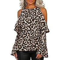 ... estrellas 3 · ❤ Blusa de Mujer Leopardo Fuera del Hombro, Estampado Leopardo Ocasional de Las Mujeres