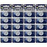 Varta Batterien Electronics CR2032 Lithium Knopfzelle 3V Batterie 20er Pack Knopfzellen in Original Blisterverpackung