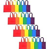 24 Piezas 6 Colores de Bolsa de Regalo de Fiesta Bolsa de Mano Bolsas de Dulces no Tejido con Mango para Regalos Favores de Fiesta Navidad, 8 por 8 Pulgadas