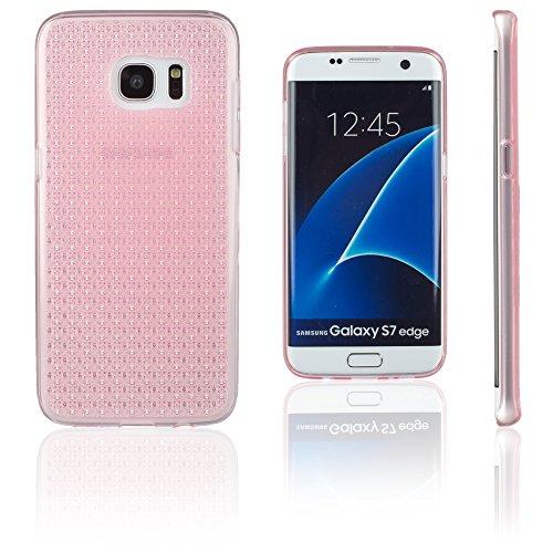 Xcessor Crystal Shine Kristall Glanz Glossy Flexibel TPU Gel Schutzhülle Für Samsung Galaxy S7 Edge SM-G935. Transparent / Rosa
