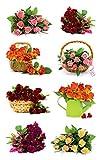 Avery Zweckform 54485 Deko Sticker Blumenstrauß 16 Aufkleber