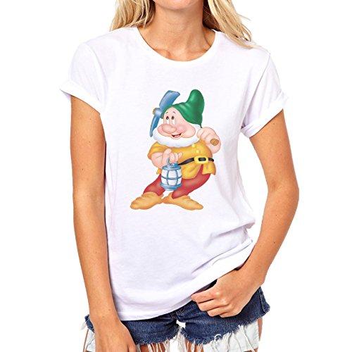 Sneezy Snow White One Of Seven Dwarfs Damen T-Shirt Weiß