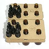 Bee Beautiful 30ml Ambre Verre Bouteille avec Verre Transparent Compte-gouttes Pipette - 10 X 30ml Bottles