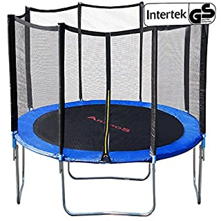 Outdoor trampoline 14 ft 427 cm with safety net enclosure padding ladder