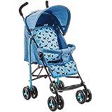 YKQ Kinderwagen für Kleinkinder Leichte Multi-Funktions-Kinderwagen Markise sitzen und Legen Bequeme Baumwolle Pad Abnehmbar mit Skylight Pink Blau