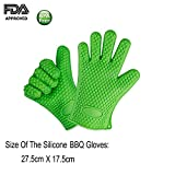 #9: MasterStor Silicone Baking & Bbq Insulated Heat Resistant Oven Gloves - Barbecue Mitt, Cooking Gloves, Oven Gloves - Protect Your Hands And Avoid Accidents - Excellent Oven Mitts For Outdoor and Kitchen Use - Sold by Pair (Green)