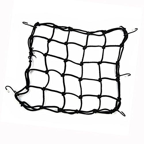 Cisixin Filet à Bagages Araignée élastique avec 6 Crochets, Équipement de vélo/moto (Noir)