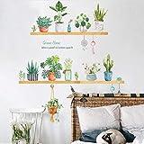 Mddjj Bonsaï En Pot Fleur Vert Plantes Stickers Muraux Pour Enfants Chambres Salon Cuisine Fenêtre Décor À La Maison Décoratif Décor À La Maison Decal