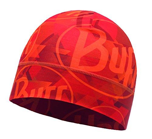 Buff Microfiber 1 Layer Hat Mütze, Tip Logo Orange Fluor, One Size