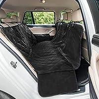 Autoschondecke Hund Rücksitz | Wasserfeste, Rutschfest und Waschbare Hundedecke Auto Rückbank | Universale Autodecke | SUV, BMW, VW, Audi, Cabrio | 165 x 142 cm | Schwarz