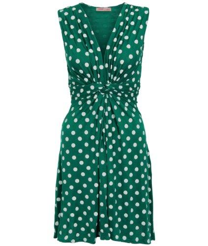 KRISP Damen Kurze Wickelkleider Minikleid Swing Große Größen 36 – 48