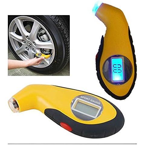 JZK® medidor de mini / probador / calibrador de presión de los neumáticos electrónico / digital controlador de presión + LCD para vehículos, automóviles (rango: 0.5- 99.5Psi; 0.5- 9.95Bar)