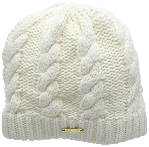 GANT Mädchen Mütze Cable Beanie, Elfenbein (Offwhite), Small (Herstellergröße: 6-9 Jahre) (Rib Mädchen Cap Knit)