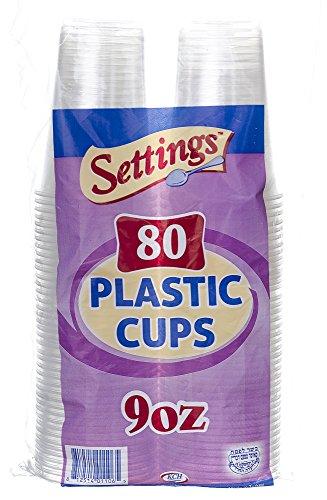 Einstellungen, Kunststoff Einweg Transparent Partybecher Becher, plastik, transparent, 12 Pack (960 Cups) - Kostengünstige Einweg