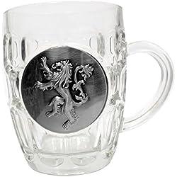 Jarra de cristal, escudo metálico Lannister