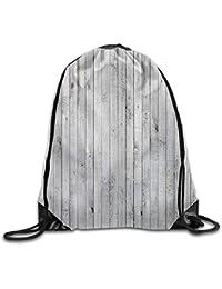 d6b114a7fd HLKPE Vertical Lined Wooden Board Background Black And White Tone Vintage  Planks Drawstring Gym Sack Sport