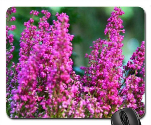 Schöne Heather Blumen Mauspad, Mousepad (Blumen Mauspad) (Heather Pearl)