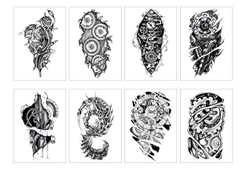 Tattoo Männer Tribal Totem Tattoo Make up Body Art Aufkleber für Halloween Party Supplies Strand Pool Party Favor Decor Dress up Kostüm Zubehör