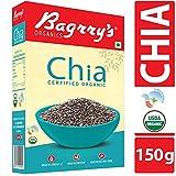 Bagrry's Organics Chia Seeds, 150 gm, Certified Organic
