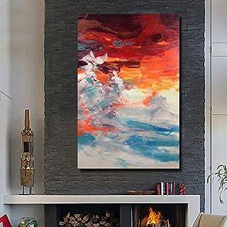 MYT Handgemaltes abstraktes Himmel Asaka-Ölgemälde auf Segeltuchwandkunst Bildern für Wohnzimmerausgangsdekoration kein gestaltet