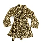 Bademantel Gr. M Microfaser Tiger Leopard