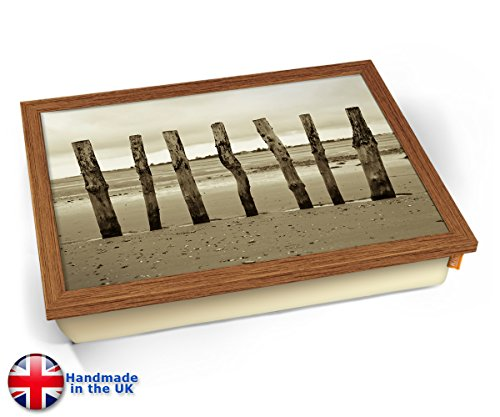 Beach Posts Sea Seaside Coast Cushion Lap Tray Kissen Tablett Knietablett Kissentablett - Holz Effekt Rahmen - Tulip Post