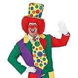Bunter Clown Hut Klown Zylinder bunt gepunktet Narrenhut Clownmütze Schelm Kopfbedeckung Harlekin Kostüm Zubehör Clownhut Clownshut