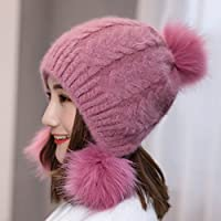 Wenxin0815 Winter Hat Kinder Double Knit Cap Ohr Kappe