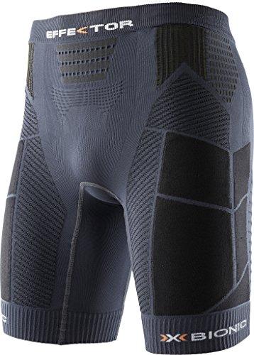 X-Bionic - Pantalones Cortos para Correr Effektor para Hombre, Hombre, Trail Running Man EFFEKTOR OW Pants Short, carbón y Negro