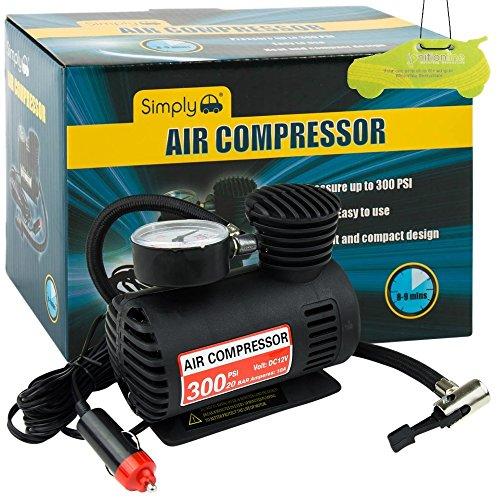 Compresor de aire eléctrico de 12 V y 300 PSI + ambientador IgnitionLine para coches