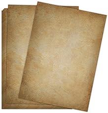 Briefpapier Vintage / 50 Blatt / DIN A4 / 120g / beidseitig bedrucktes Motivbriefpapier im hochwertigen Stil - dunkel - Von Sophies Kartenwelt