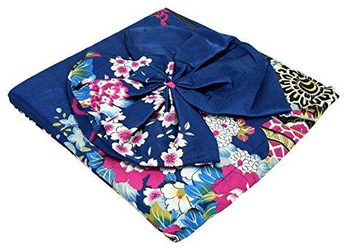 Japanischer geisha Kimono dunkelblau mit Obi-Gürtel - 6