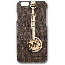 MK Key Image Logo Slim Luxury Phone Case Cover For Iphone 6/Iphone 6s Michael Kors Browm Back Design For Boys