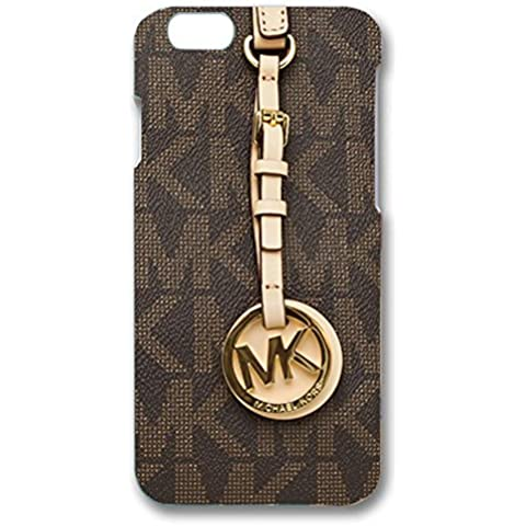 MK Key Image Logo Slim Luxury Phone Case Cover For Iphone 6/Iphone 6s Michael Kors Browm Back Design For