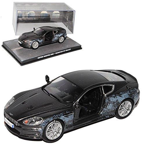 Quantum Vitrine (Aston Martin DBS Schwarz Tür gesprengt Ein Minimum an Trost James Bond 007 1/43 Ixo Modell Auto)