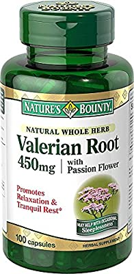 Nature's Bounty, Valerian Root Plus Calming Blend, 450 mg, 100 Capsules from Nature's Bounty