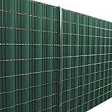 [neu.haus] Rollo de aislamiento (verde)(35m) para vallas y demás superficies - Lámina de ocultación protege contra el viento