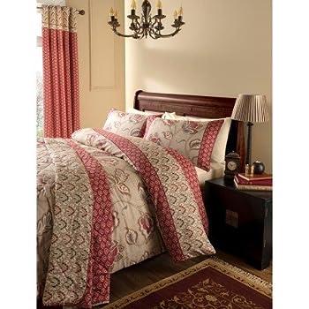 Catherine lansfield parure de lit double en cachemire multicolore multicolore couvre lit for Parure lit double