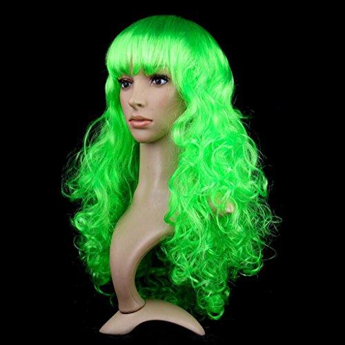Longless Perücken lange Gerade Haarfarbe micro-roll Liu Haichang glattes Haar Sätze von Halloween Requisiten Jahr (Kleid Khaleesi Kostüm)