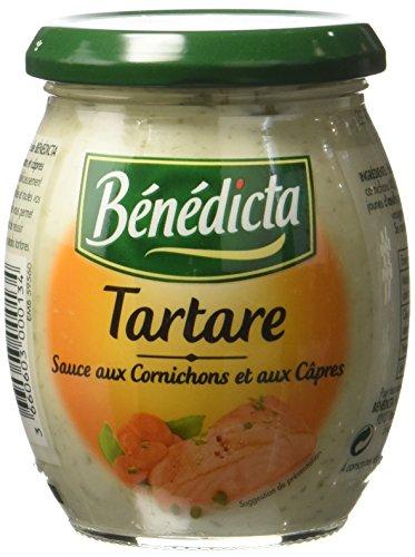 Bénédicta Tartare Sauce aux Cornichons et aux Câpres 240 g - Lot de 4