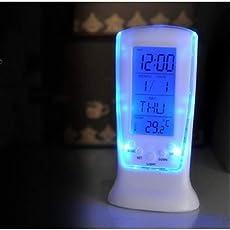 Aryshaa Square Clock DS-510 Digital Alarm Temperature Calender Table Desk Clock