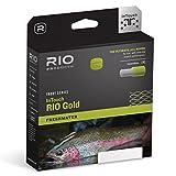 Rio Touch Gold Süßwasser Forellenserie WF Fliegenschnur, Moosgrün/Grau/goldfarben WF6F